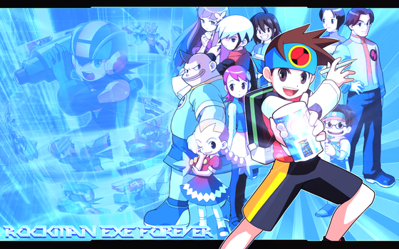 Rockman EXE Forever Wallpaper HD 2500x1600 by YuseiFudou97