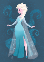 Queen Elsa by Inehime