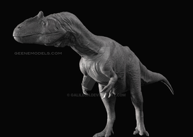 Allosaurus closed mouth by GalileoN