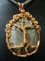 Pyrite And Copper Wire Tree by BacktoEarthCreations