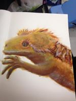 Crested Gecko Painting by ChloeBedfordFineArt