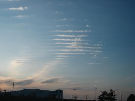 weird-shaped clouds by Lily-Marie