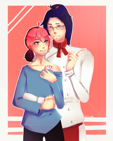 Commission: Andy and Kouji by Ryede