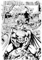 Superman vs Hulk page4 - Inks by adr-ben