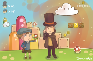 Layton and Luke in another world... by Dorinootje