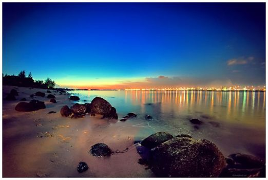 Punggol Beach Sunset by lxrichbirdsf