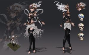 Syndra - Halloween Skin by CMorilla