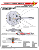 Star Trek TOS Hermes Class Scout by viperaviator