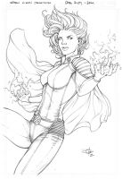Storm Xmen Pencils by Carl-Riley-Art