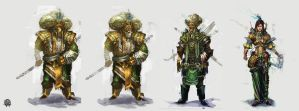 3 character concepts by TheArtofSaul