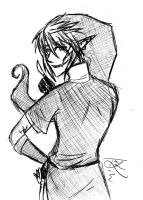 Dark Link Sketchy by Foxtail-89