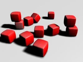 Red cubes by goran74