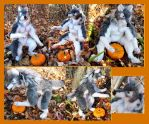 Gray Halloween Werewolf Plush by Jarahamee