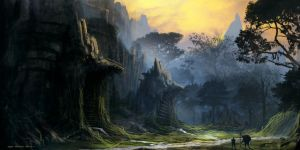 ancient dry river by i-Manphibian