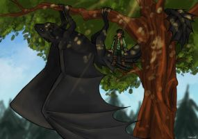 Toothless and Hiccup by Nerual-56