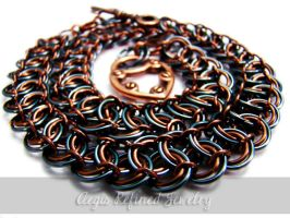 Steampunk Ladies Chainmail Necklace by Toxic-Muffins-Studio