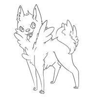 FREE Adoptable LineArt [Dog] by Hackwolfin