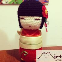 Kokeshi doll amigurumi by Mirtha Amigurumis by MirthaAmigurumis