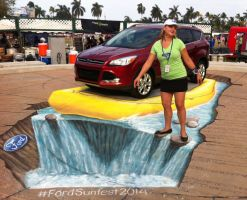 Ford Sunfest Street Painting by AmazingStreetPaint