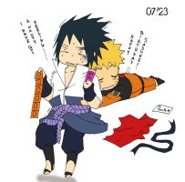 Happy bithday Sasuke by Feiuccia