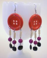 Cute as a Button Earrings by RetroRevivalBoutique