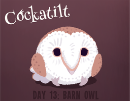Birdstarter Day 13: Barn Owl by Furrama