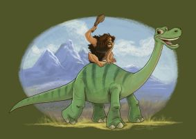 The Good Dinosaur - All Grown Up by Lillidan86