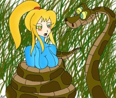 Kaa and Samus Painted by lol20