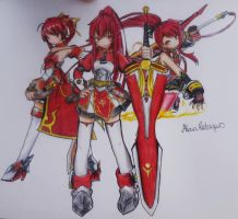 Elesis - Elsword (Saber Knight,Knight,Pyro Knight) by AlexiaRodrigues