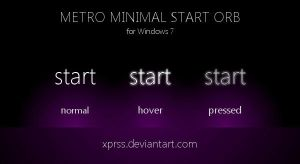 [UPDATE] metro minimal Start orb - for Windows 7 by XprSS