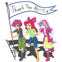 Cutie Mark Crusaders: Thank You All~! by AcesRulez13