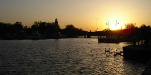 Port Credit at Sunset by K-h-a-s-u-s