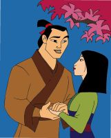 Mulan and Shang by grievousorvenom