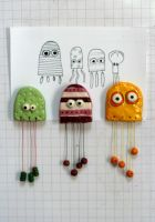 jellyfishmonsters magnets by numb-synapse