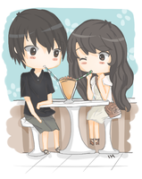 cafe couple by R-Ruri