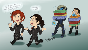 ME3 - Shepards Go Shopping by JadeRaven93