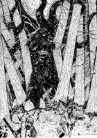 Encounter in the Woods by PeterSzmer