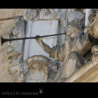 Angel sounds the trumpet by nazarienne