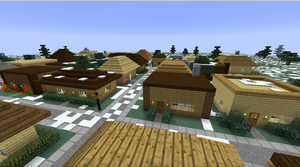 My Minecraft Town by poofiedogg