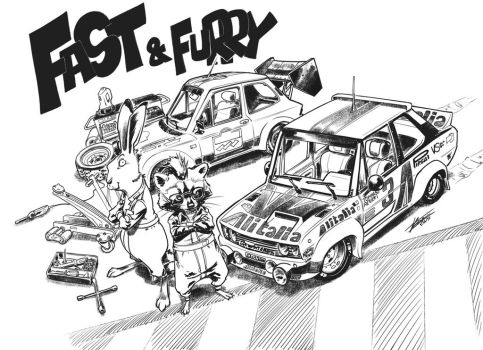 Fast e Furry 1 Fiat 131 and A112 by tommasorenieri