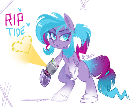 RIP TIDE the Engineer Pony! by zombie