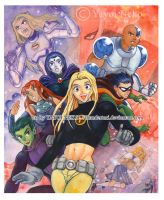 Teen Titan painting by Thundertori