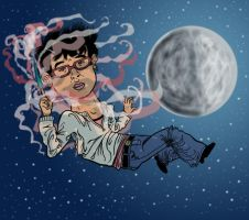 Self Portrait in Space by psychicbologna
