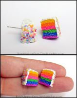 Rainbow Cake Post Earrings by Bon-AppetEats