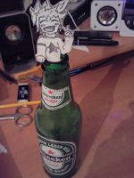Anime+beer)fun together ^___^ by ALart90