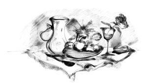 Still life quick sketch by Silphes