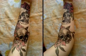 Skulls n Roses by turanneth