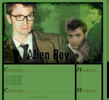 David Tennant - web template by TrillianAstra