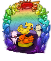 Chocobo Crystal Cave by oOToetjeOo