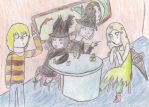 Witches in the Absinthe Party by Digi-Shaman-of-Fire
